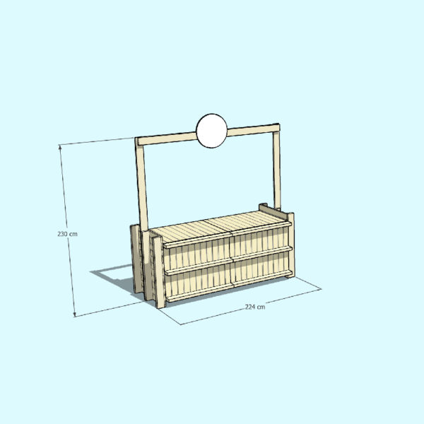 YELLOW 2 dimensions counter pallets - Pop Up Pallets