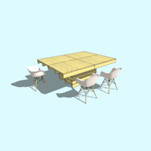 TURIN 2 - Pallet table - Pop Up Pallets